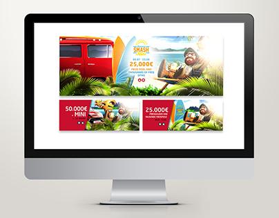 Casino Summer Smash Banner Concept