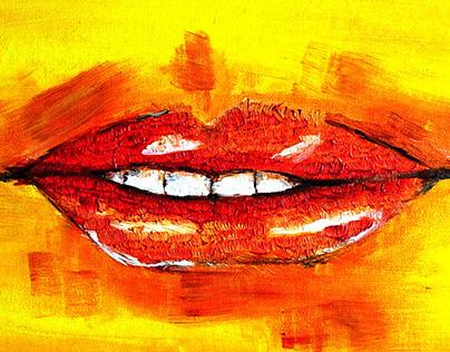 between the lips