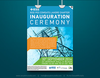 IEEE PES Inauguration Ceremony - Event Poster