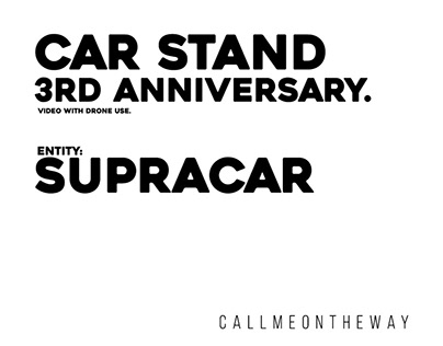 Car Stand 3rd Anniversary. Entity: Supracar