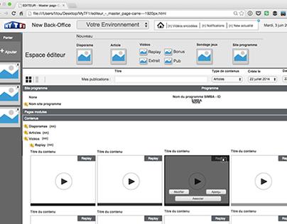 UX/UI Back-Office unifié de publication multicanal