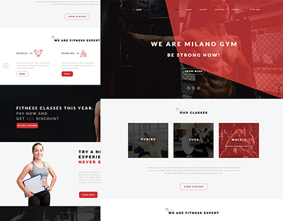Milano Psd Layout | Web Design For Training Centers