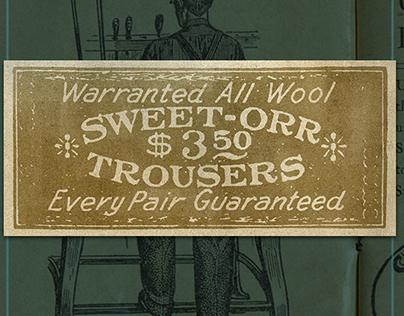 Hand-Lettered Sweet Orr Label