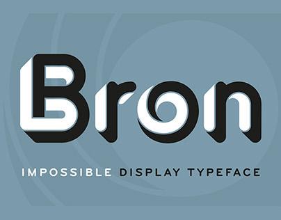 Bron Black typeface