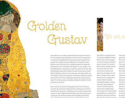 Gustav Klimt Article + Layout