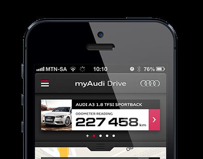 myAudi Drive - iOS App Design