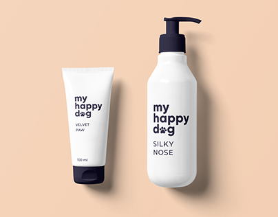 my happy dog - logo and branding design concept