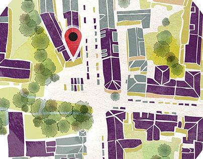 Mitt Oslo - kartillustrasjoner