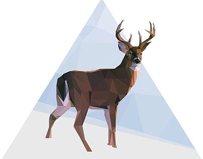 Illustration Reindeer Low Poly