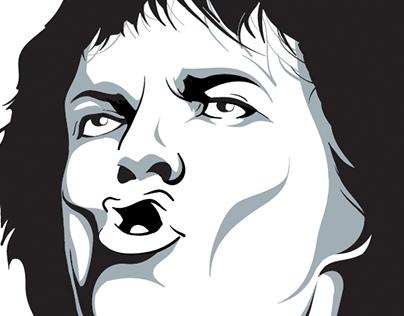Mick Jagger wall Design
