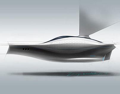 "Solar boat for Japanese see ""Seto Naikai"" 2011"