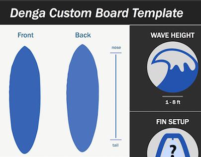 Custom Surfboard Template
