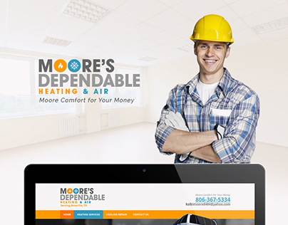 Moore's Dependable Heating & Air Web Design