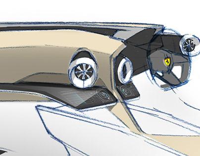 Ferrari doodles - steps