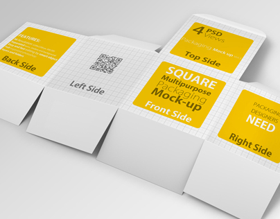 4 Multipurpose Package / Box Mock up
