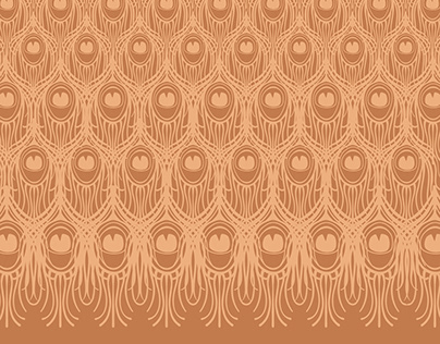 Pretty as a Peacock - surface pattern design for fabric