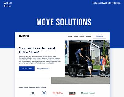 Moving service website redesign