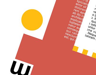 Non symmetrical Typography Posters