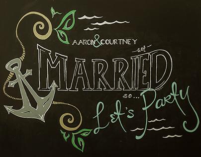Annapolis Wedding Sign