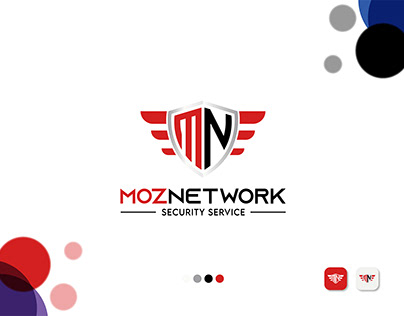 M+N Letter, Modern Security Service Logo