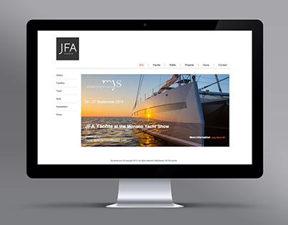 JFA Yachts - UX Design / Graphisme / Développement