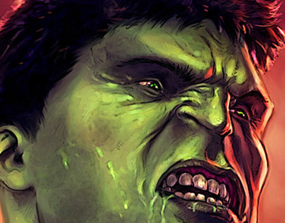 Hulk, painting steps