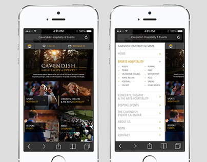 Cavendish Hospitality & Events - Mobile website