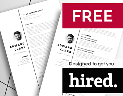 FREE stunning resume template. Meet Edward!
