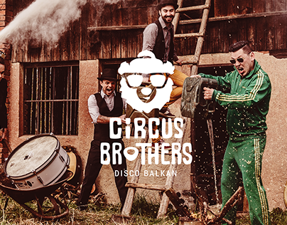 "Logo for ""Circus Brothers"" – Disco Balkan Band"
