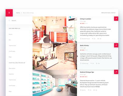 Medical website concept