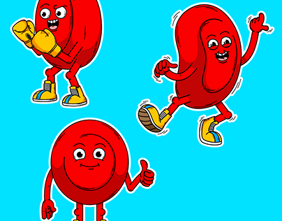 Blood cell stickers