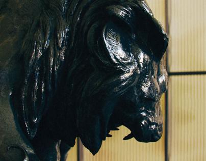 CGI - LION CRUSHING a A SERPENT