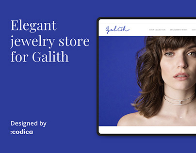 Elegant jewelry store for Galith