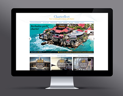 Charterfleet - Site vitrine - UX Design