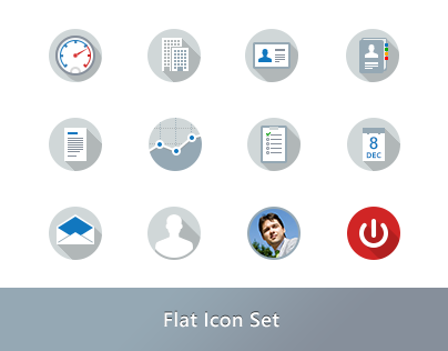 Flat Icon Set for ReverseVision's Sales Accelerator