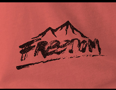 FREEDOM - Hand Lettering T-shirt