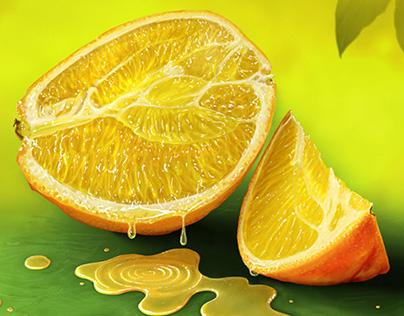 Quick Study of an Orange