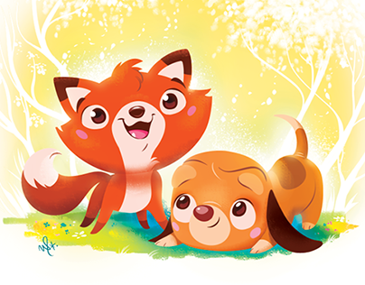 Fox and the Hound - quick illo