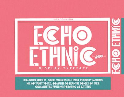 Echo Ethnic Display Font
