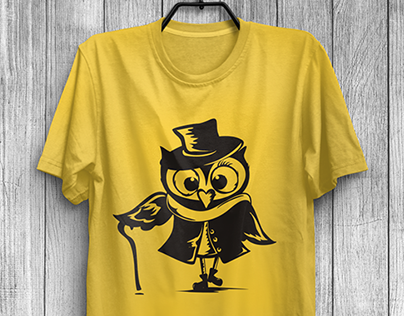 Owls. T-shirt prints.
