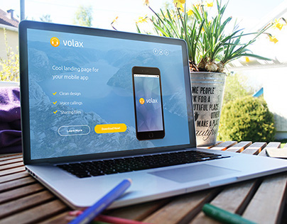 Volax - App Landing Page