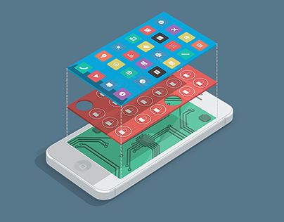 iPhone Layers Illustration