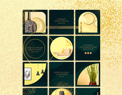 Emerald Instagram Puzzle Feed Template