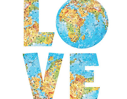 Mosaic illustration for Earth Day