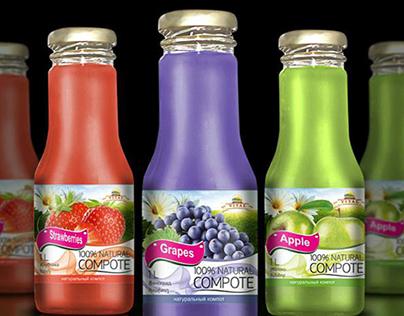 Natural juice label design