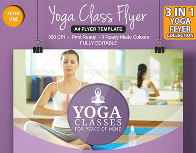 Awesome Yoga Flyer Template On Behance