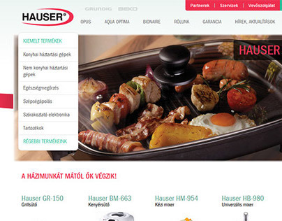 Hauser Home Appliances Website