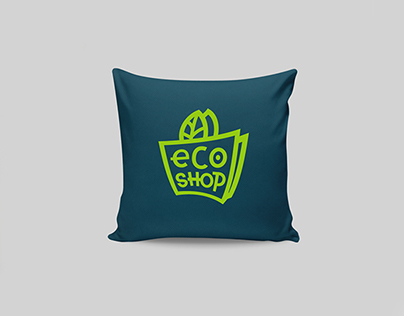 eco shop logo identity