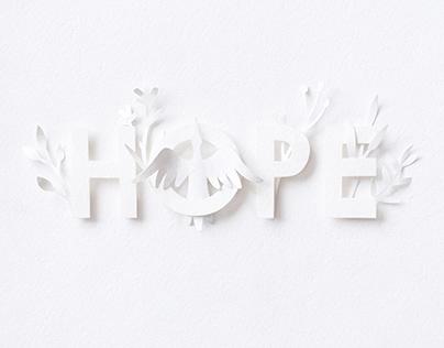 Hope | paper art