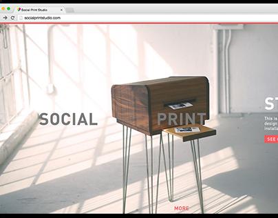 Social Print Studio Homepage